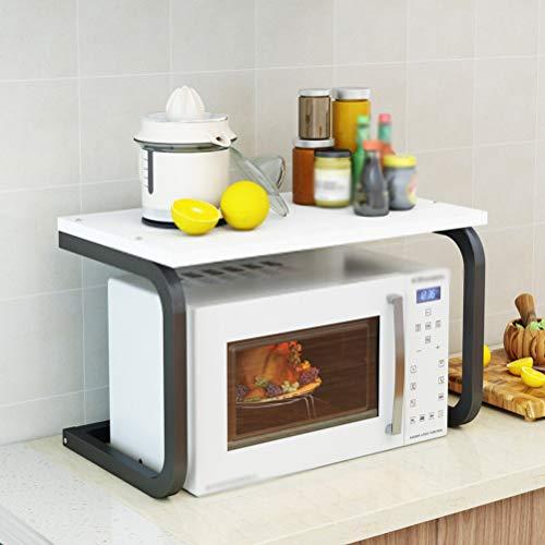 Kitchen furniture - Support de rangement de cuisine pour étagère à micro-ondes de type U avec étagère multicouche au sol WXP (Couleur : NOIR, taille : A)