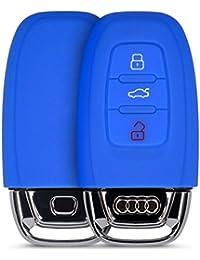 kwmobile Funda de silicona para Audi 3-pulsante llaves la máquina llaves Carcasa Protectora Estuche llaves case (Color a elegir