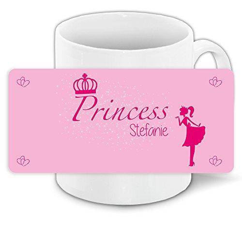 Tasse mit Namen Stefanie und schönem Prinzessin-Motiv für Mädchen - Tasse für Kinder Keramiktasse 7