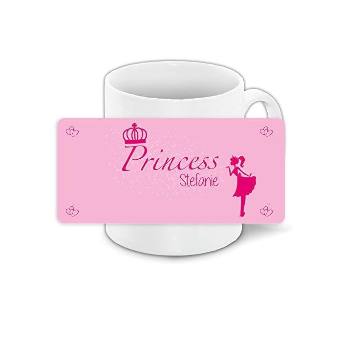 Tasse mit Namen Stefanie und schönem Prinzessin-Motiv für Mädchen - Tasse für Kinder Keramiktasse