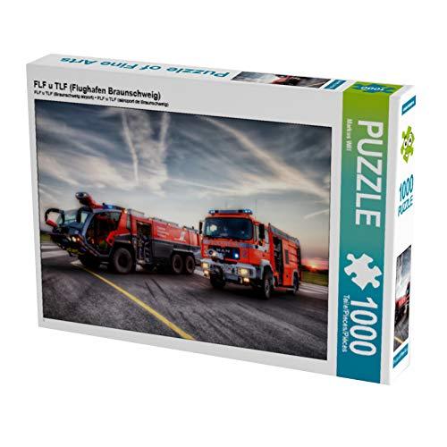 CALVENDO Puzzle FLF u TLF (Flughafen Braunschweig) 1000 Teile Lege-Größe 64 x 48 cm Foto-Puzzle Bild von Markus Will