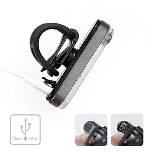 LX2 - Wiederaufladbares Hinterlicht per USB - Aluminium Gehäuse - 4
