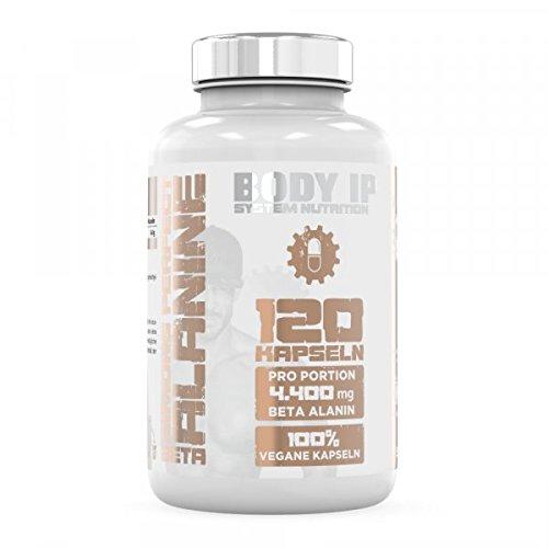 BODY IP Nutrition Simons Perfect Beta Alanine | 120 Kapseln | 4,4g Beta-Alanin pro Dosis | Made in Germany