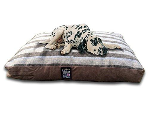 Classic Bettdecke Hundebett Matratze Sripe Stoff große Hunde Bett