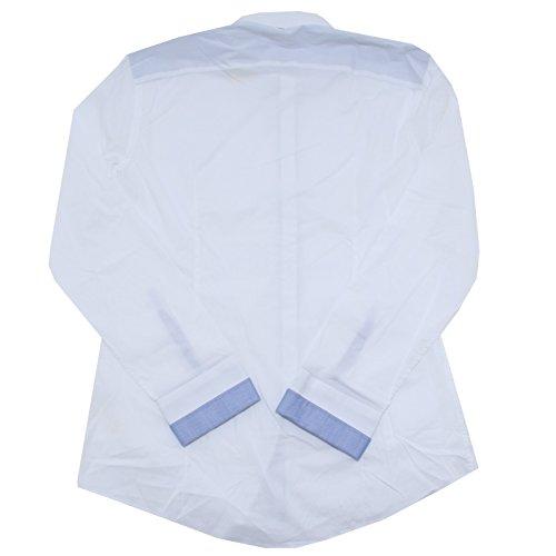 23177 camicia DANIELE ALESSANDRINI camicie uomo shirt men Bianco
