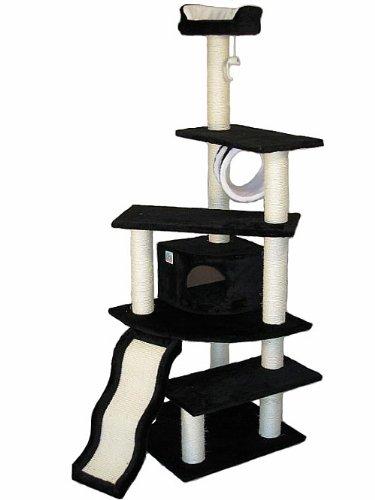Go Pet Club Katze Baum Möbel, 38x 26x 178cm, schwarz (Condo Pet-möbel Scratcher)