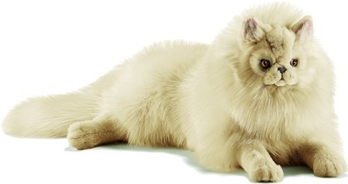 Plush Soft Toy Lying Cream Cat By Hansa. 70cm. 5010 by Hansa
