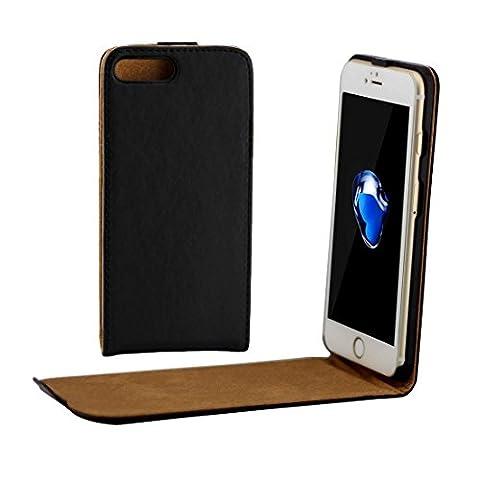 Housse Étui pour iPhone 7 plus, Coque Pour iPhone 7 Plus Khaki Doublure en cuir Flip Flip Vertical ,pour iPhone 7 plus