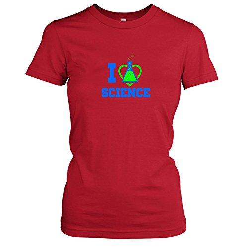 TEXLAB - I love Science - Damen T-Shirt Rot