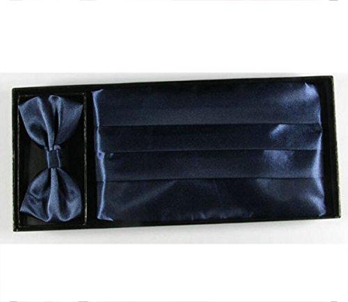 Chine Palaeowind Hommes Robes Simple Ceinture Tie Serviette De Poche Smoking Costume Taille darkblue