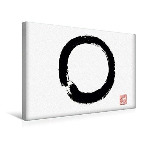 Calvendo Premium Textil-Leinwand 45 cm x 30 cm Quer, Enso | Wandbild, Bild auf Keilrahmen, Fertigbild auf Echter Leinwand, Leinwanddruck Kunst Kunst