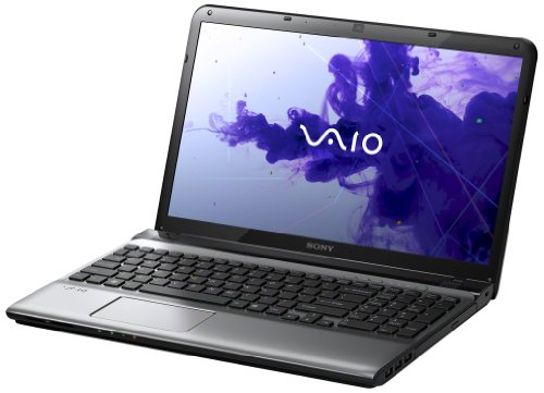 Sony VAIO SVE1511R9ESIHB 39,5 cm (15,5 Zoll) Laptop (Intel Core i3 2370M, 2,4GHz, 4GB RAM, 640GB HDD, Intel HD 3000, DVD, Win 7 Pro), silber, inkl. Office Home&Business Bundle