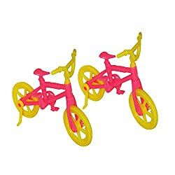 Generic 2pcs Bicycle for Doll Dolls Random Color
