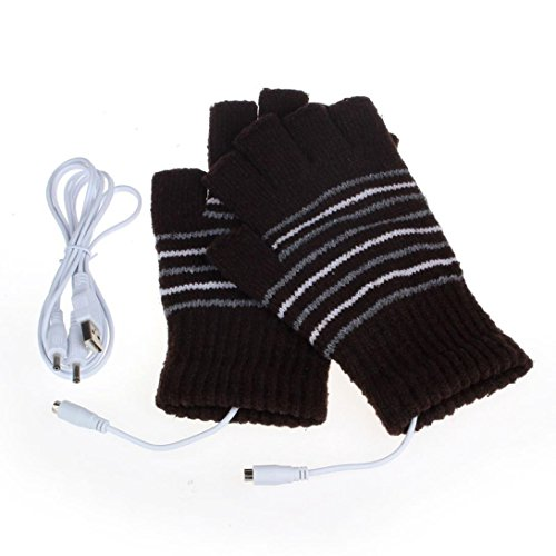 Zolimx 5V USB Powered invierno mano lavable guantes