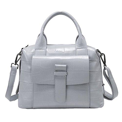 Geprägte Lederhandtaschen Handtasche Schultertasche Messenger Bag Damenmode Tasche Blue