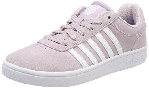 K-Swiss Damen Court Cheswick Sde Sneaker, Grau (Gray Lilac/White), 40 EU