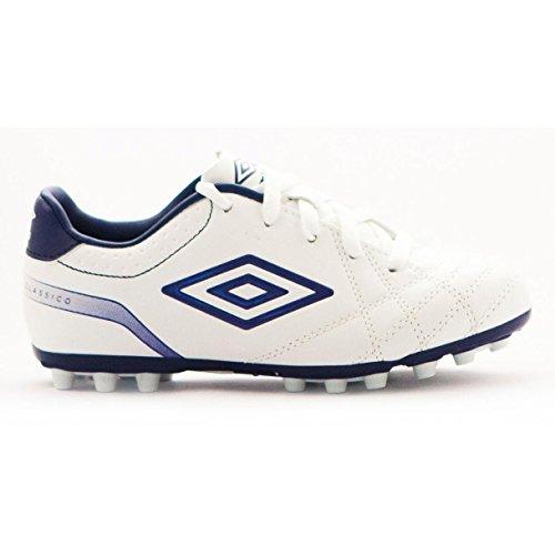 Umbro Umbro Classico Jr AG Chaussures de football pour enfant Blanco / Blueprint