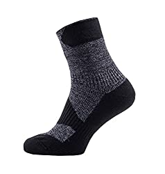 SealSkinz Herren Waterproof Walking Thin Ankle Socks, Dark Grey/Black, L
