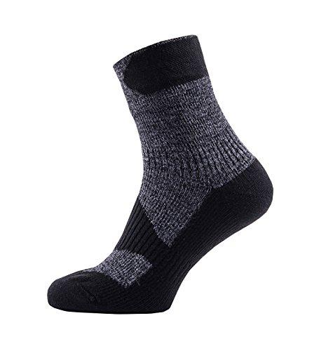 SealSkinz Herren Waterproof Walking Thin Ankle Socks, Dark Grey/Black, L -