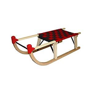 Sweety Toys 4041 Holzschlitten Hörnerschlitten Innsbruck Stripe 90 cm
