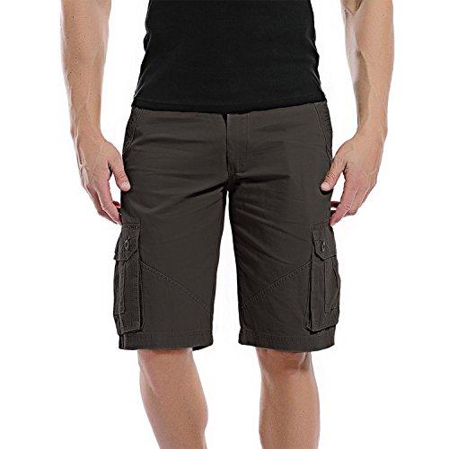 AYG Hombre Cargo Shorts Pantalones Cortos Bermudasdark gray,32