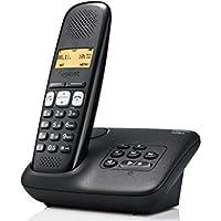 Gigaset A250A Analog/DECT telephone Identificador de llamadas Negro - Teléfono (Analog/DECT telephone, Terminal inalámbrico, Altavoz, 80 entradas, Identificador de llamadas, Negro)