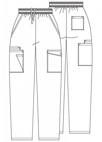 Adar Uniforms Medizinische Schrubb-hosen - Damen-Krankenhaus-Uniformhose 506 Color RYL | Talla: S - 5