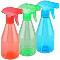 StopHere Multipurpose Refillable Plastic Spray Bottle,500 Ml,Transparent (Set of 3)