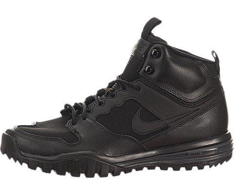 Nike Herren Dual Fusion Hills Mid Leather Wanderschuhe, Schwarz/Schwarz-Anthrazit, 42 EU Wanderschuh Herren Nike