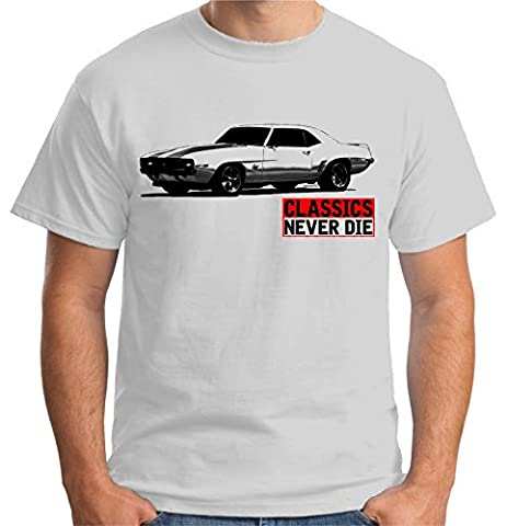 Velocitee Speed Shop Premium Mens T Shirt Classics Never Die