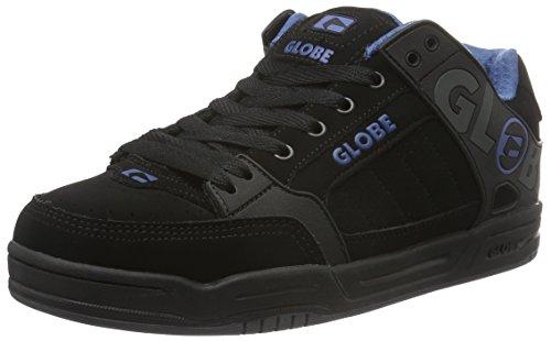 Globe Tilt, Sneaker uomo Nero Schwarz (Black/Black/Blue) 44.5