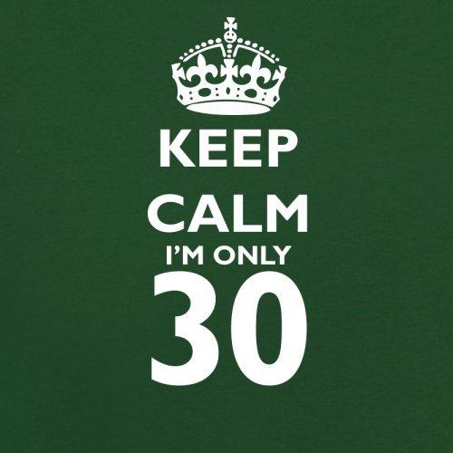 Keep calm I'm only 30 - Herren T-Shirt - 13 Farben Flaschengrün
