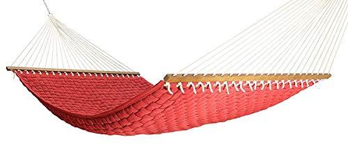 The Garden Hammocks® Bequemer Schlaf-Hängekorb geflochten Doppelhängematte rot (Ständer Nicht im Lieferumfang enthalten) (Und Patio-design-software Deck)