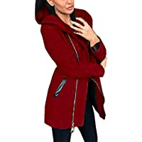 Zipper Long Hoodie For Women,Moonuy Ladies Girl Fashion Winter Autumn Long Sleeve Solid Casual Daily Slim Coat Jacket Outwear Parka Overcoat Cardigan Hoody Sweater Hooded Sweatshirt