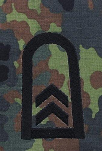 Bundeswehr Rangschlaufen, Oberfeldwebel, flecktarn, schwarz bestickt