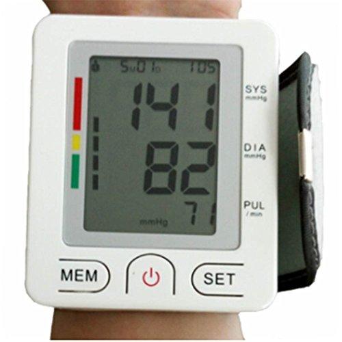 Handgelenk-Blutdruckmessgerät, Genaue Blutdruckwerte, Monitore Normale Und Unregelmäßige Puls/Herzfrequenzen, Mit Memory-Funktion. Überwacht Hohen Und Niedrigen BP.
