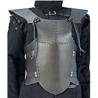 Ready For Battle LARP Hombres Piel Armadura Negro o Marrón Tamaño S Medieval Combate de exhibición Vikingo, marrón, small