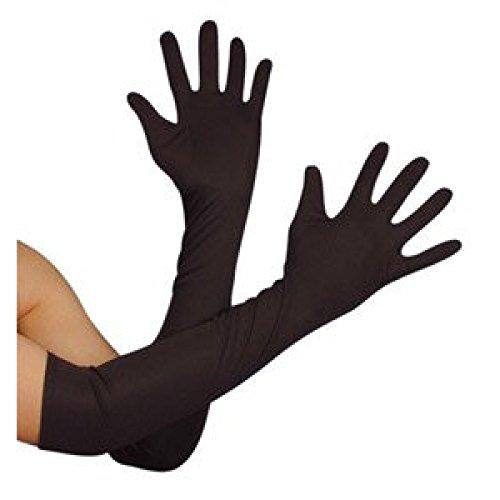 Lange Schwarze Handschuhe Fancy Dress - Novelties Direct Frank 'N' Furter Ellenbogen-Handschuhe,
