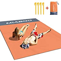 MIABOO Beach Blanket,Portable Lightweight Waterproof Sandproof Pocket Picnic Blanket - 140cm x 200cm Large Picnic Mat and for Outdoor Travel Camping Hiking Activities (Orange)