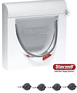 Supplied With Four Keys The Staywell Magnetic 4 Way Locking Classic 932 Cat Flap by PetSafe