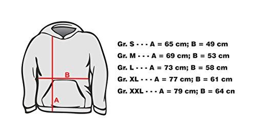 Ma2ca -Canada Leaf Kapuzensweatshirt-rot-m - 2