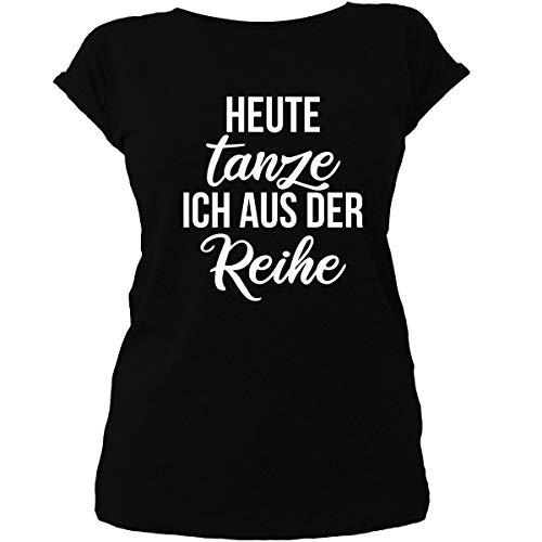 Shirtfun24 Damen Heute tanze ich aus der Reihe Statement Festival Top Oversize T-Shirt, schwarz, XXL - Musik Mag Ich T-shirt