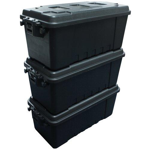 Plano Aufbewahrungskoffer, Gr. M, Schwarz, 3er-Pack