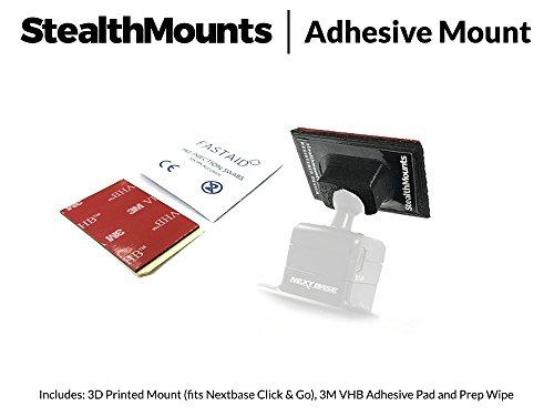 stealthmounts Low Profil selbstklebend Halterung für Nextbase 312GW, 412GW, 512GW, 612GW, 112Lite, 212Lite–3dprinted Neat Dash Cam Stealth Mount für Nextbase Kleber Mount. Autokameras