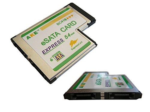 Expresscard Pc (Kalea Informatique Express-Karte Card 54mm (ExpressCard 54) auf eSATA 3.0–2ports- Chipsatz JMicron–bündig, die Anschlüsse übertreffen nicht das PC-Gehäuse.)