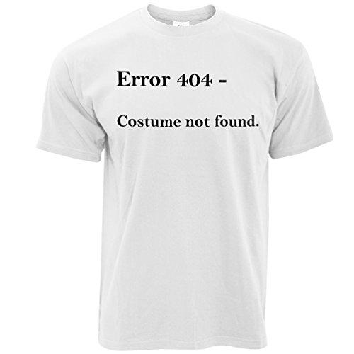 Error 404 Halloween Printed Slogan Zitat Design Premium-Qualität Herren T-Shirt (404 Halloween Kostüm)