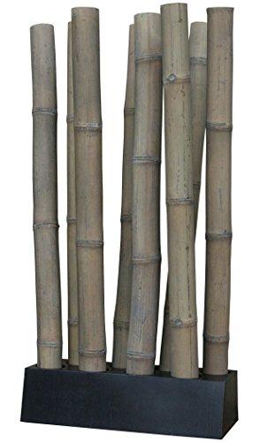 LioLiving®, Raumteiler Bianca aus Bambus (grau/schwarz) - über 2 Meter hoch! (#400145)