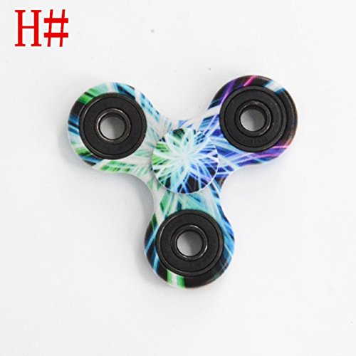Preisvergleich Produktbild Kadcope Tri-Spinner Fidget Focus Toy-Hybrid Ceramic Bearing,1-3 Mins Spins High Speed- Non-3D Printed Hand Spinners Perfect for Anxiety, EDC, ADD, ADHD, Kids&Adults