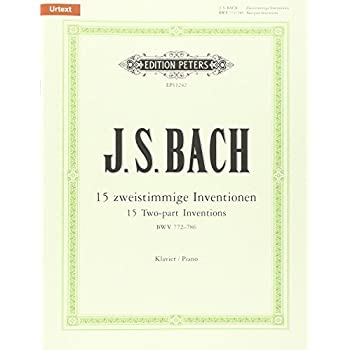 J.S. Bach, 15 Two-Part Inventions - Bwv 772-786 Piano