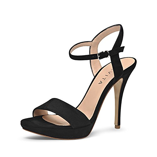 VALERIA sandales femme daim Noir